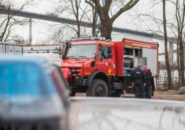 Verdächtiger Gegenstand in der Elbe-Kampfmittelräumdienst an derKöhlbrandbrückeim Einsatz-drohteine Sperrung?