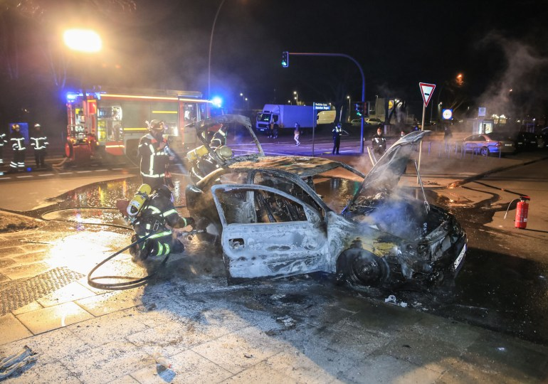 Falschparker abgebrannt - Brandstiftung oder technischer defekt?