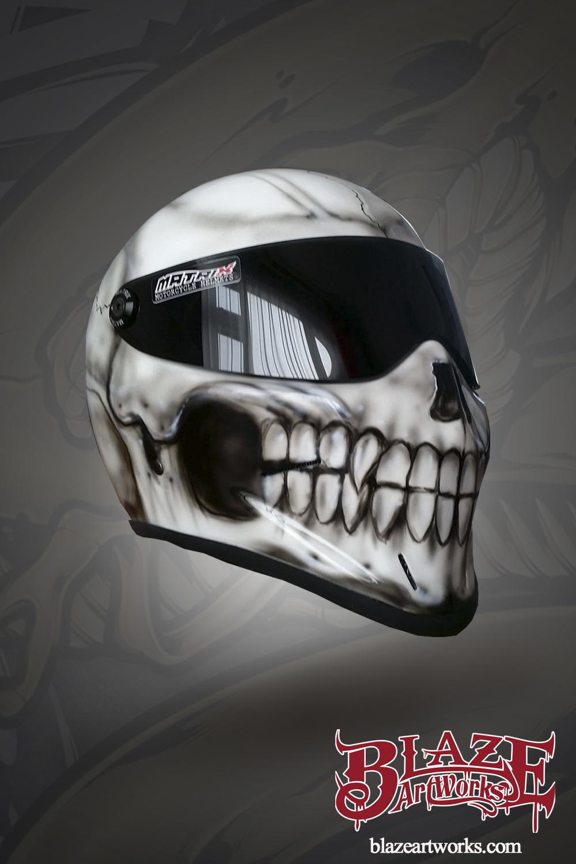 Realistic Skull Reaper custom bike helmet - Motorcycle ...