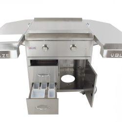 Blaze 30-Inch Griddle Cart Shelving Kit