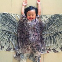 Spread your wings with these gorgeous handpainted scarves