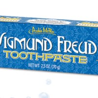 Sigmund Freud toothpaste is, of course, banana flavored