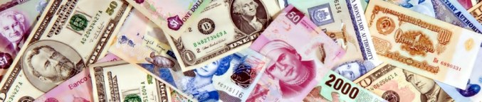 Montage of world currencies