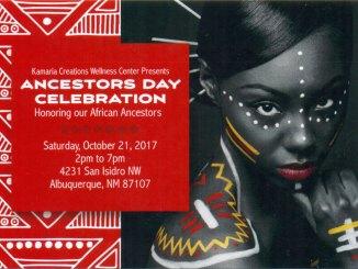Ancestors Day Celebration Poster (Front)