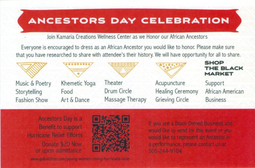 Ancestors Day Celebration Poster (Back)