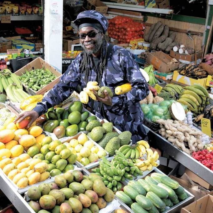 Macka B at the market photo