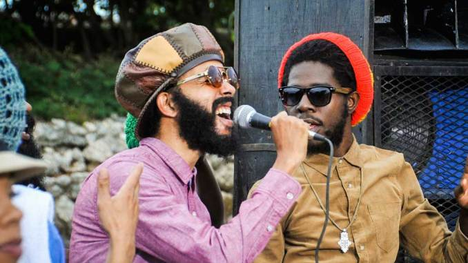 "Chronixx and Proteje performing ""Who Knows"""