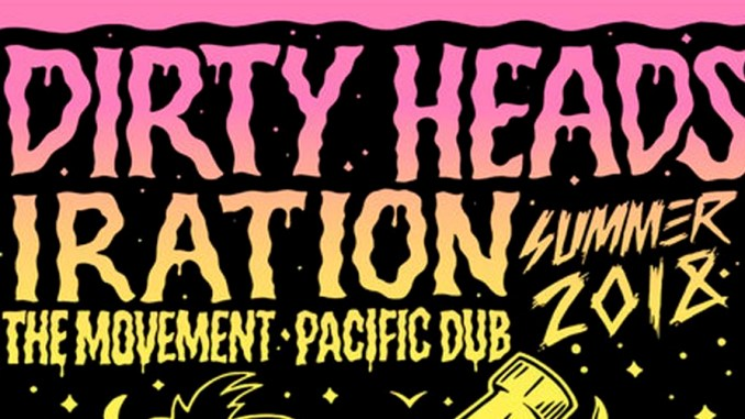 Dirty Heads & Iration Summer Tour Poster