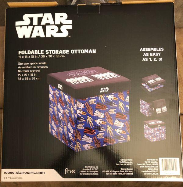 Star Wars Walmart Ottoman 2