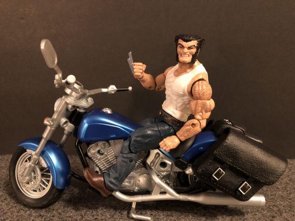 Marvel Legends Wolverine and Bike 12