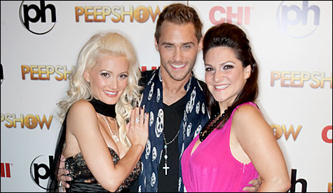 "Holly Madison, Jason Strickland and Shoshana Bean will star in the sequel to Peepshow, ""Threesome."" Not really. (Photo by Erik Kabik 