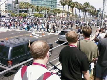 Pedestrians at Comic-Con