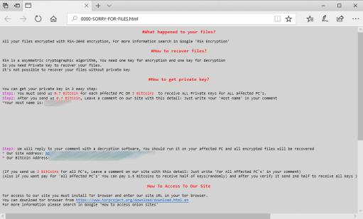 SamSam ransomware