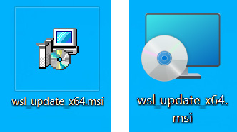 Old and new MSI icons