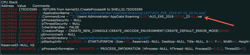 "create_process ""AZORult Trojan"" Serving ""Aurora Ransomware"" by MalActor Oktropys"