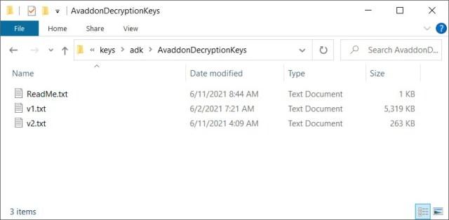 Avaddon decryption keys shared with BleepingComputer