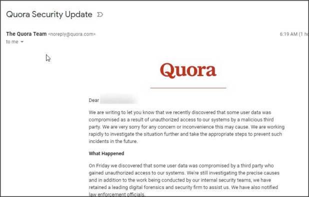 Quora Email