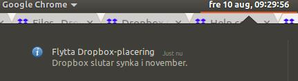 Dropbox Notification