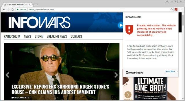 Considerado un sitio de noticias no creíble