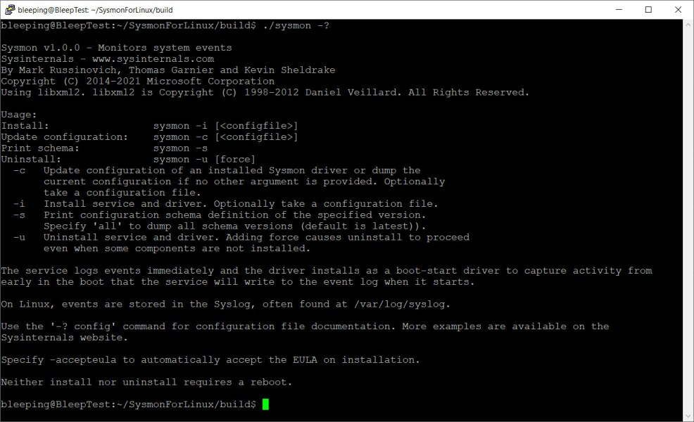 Sysmon for Linux Help File