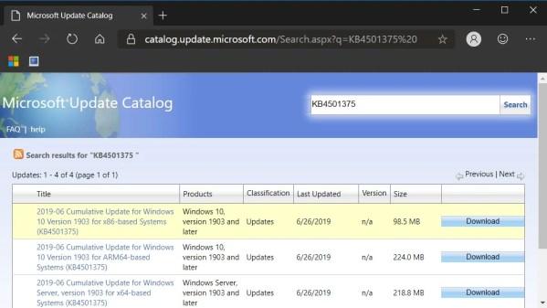 Microsoft-update-catalogs
