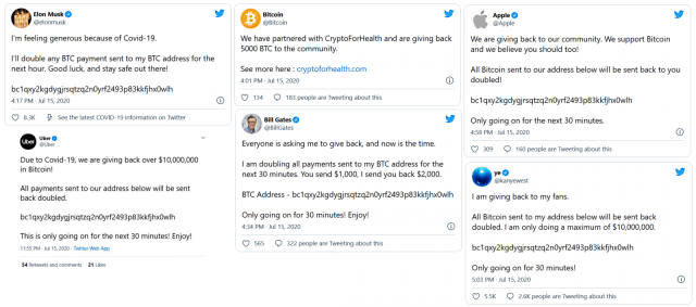 Twitter hack cryptocurrency scam