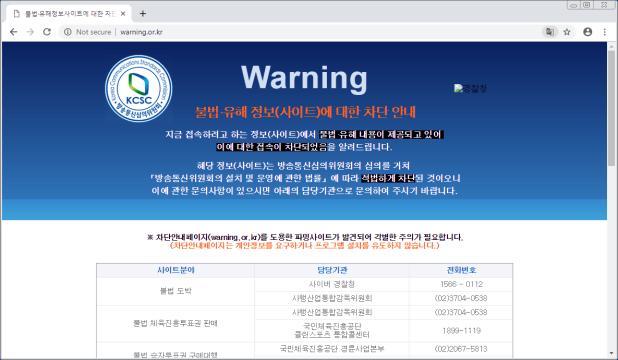 Advertencia de página bloqueada