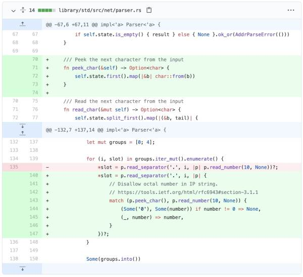 rust ip address validation bug fixed