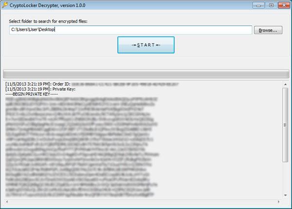 CryptoLocker Decrypter