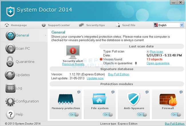 System Doctor 2014 screen shot - BleepingComputer