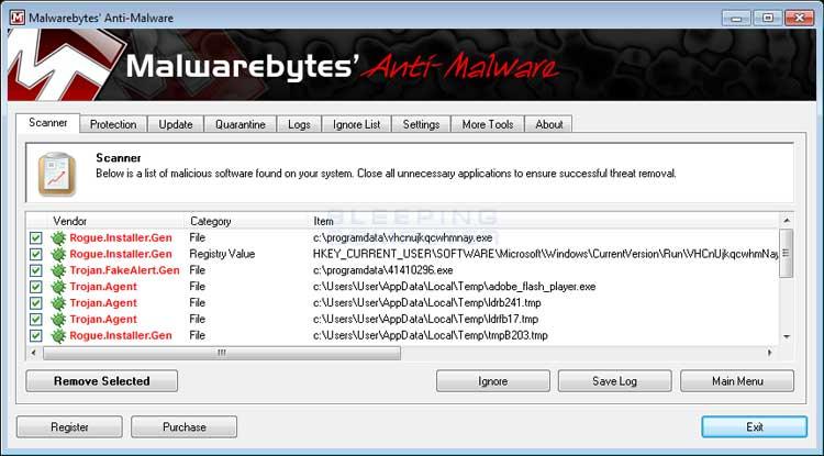 MalwareBytes Hasil Pemindaian