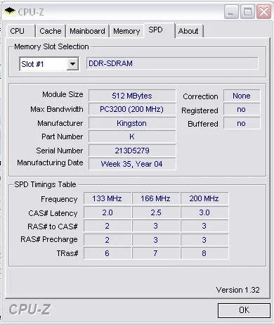 CPU-Z SPD screen