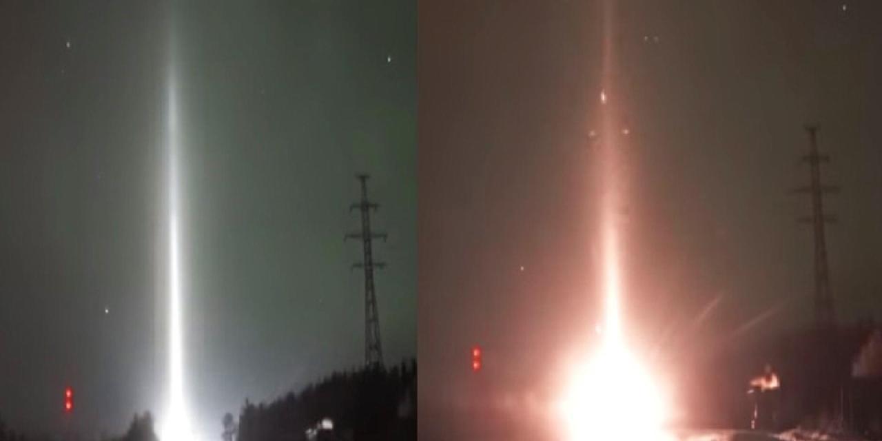 Zhiganov: Podivný paprsek světla zachytil na kameru v Rusku.
