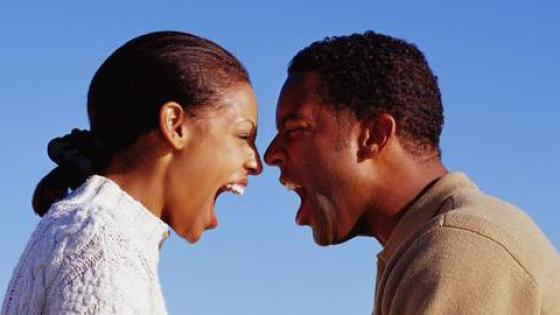 angry black man and woman