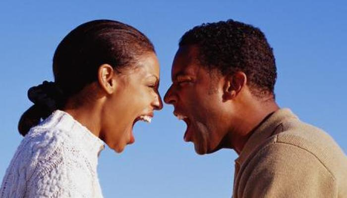 angry black man and woman