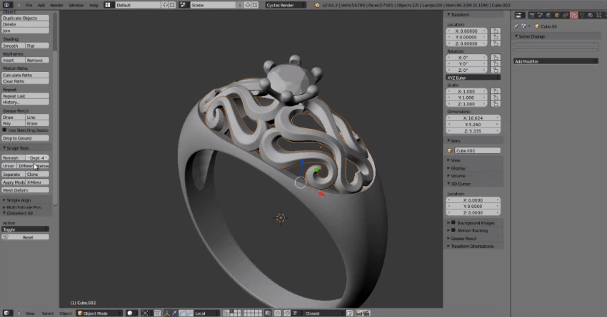 Tutorial Designing Jewelry For 3D Printing With Blender