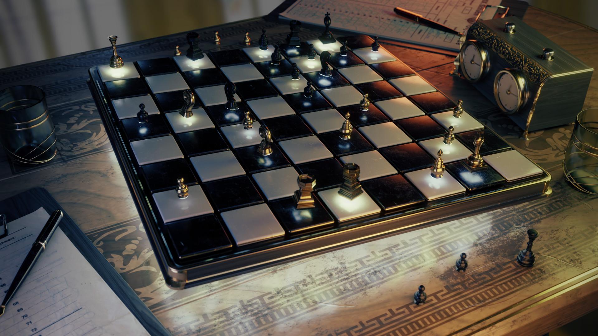 Free Model Download: Chess Set - BlenderNation