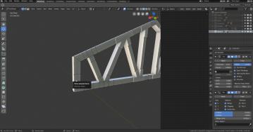Modeling beams in Blender 2.8