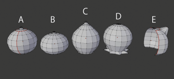 Basic shapes of each bell before applying modifiers