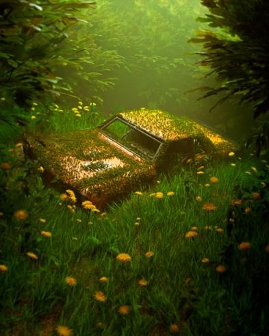 Pos - Overgrown Car