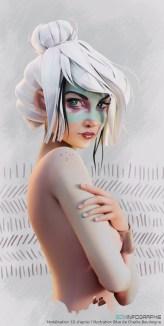 Blue character by lastrodamo