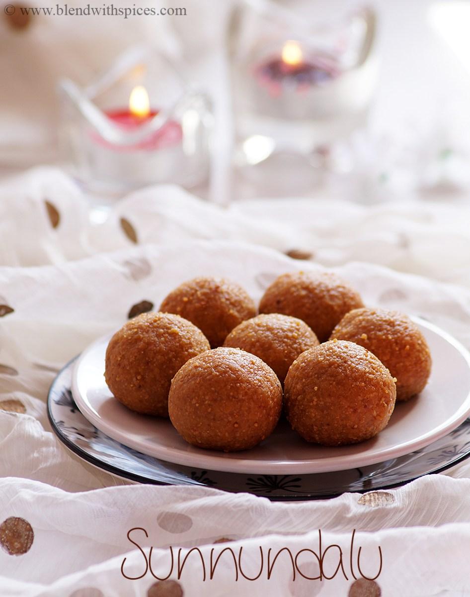 Minapa Sunnundalu Recipe - Traditional Andhra Urad Dal Jaggery Laddu {Video}
