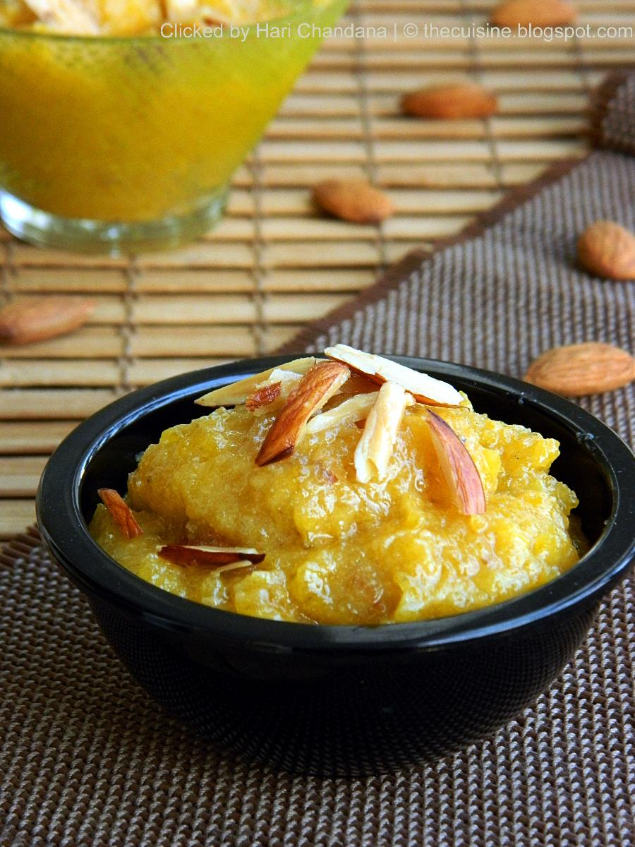 Gummadikaya Halwa - Pumpkin Halwa - Step by Step Recipe