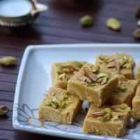 Besan Condensed Milk Burfi Recipe, How to make Besan Milkmaid Burfi, Diwali Sweets Recipes