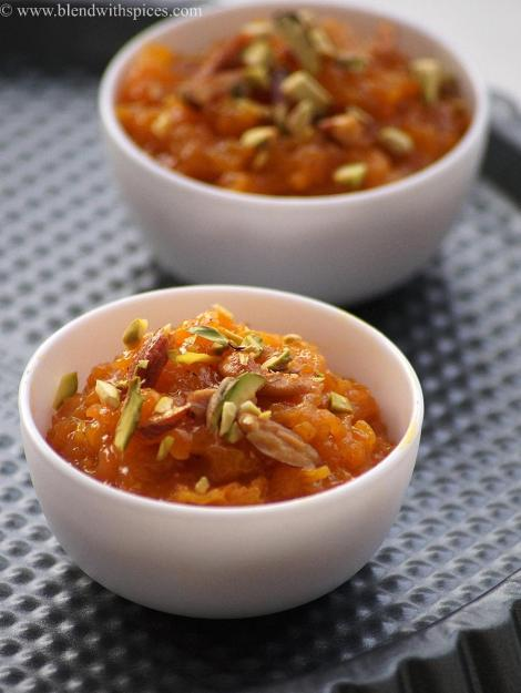 carrot coconut milk halwa recipe with step by step photos, holi sweets recipes   blendwithspices.com