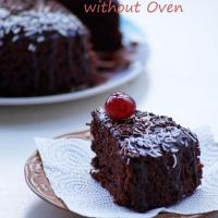 Eggless Chocolate Cake Recipe in Pressure Cooker - How to make Eggless Cake without Oven - Step by Step Photos