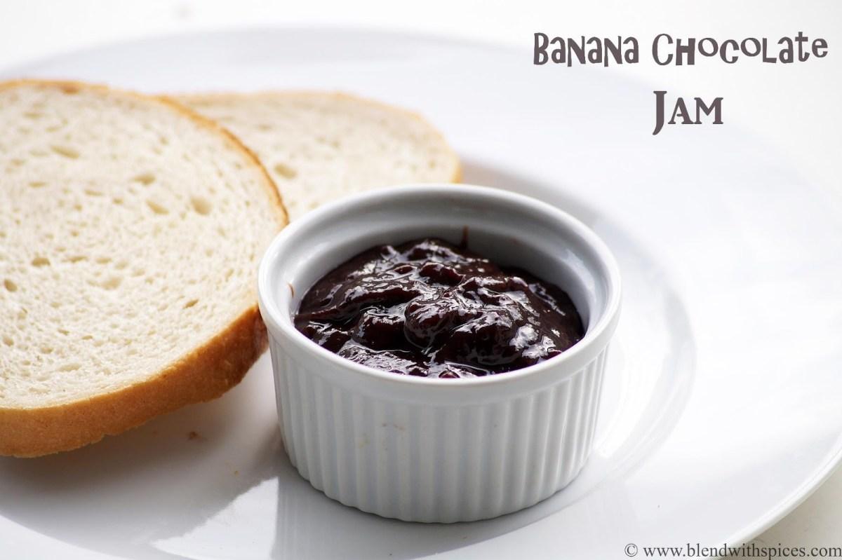 Banana Chocolate Jam Recipe - How to Make Chocolate Banana Spread Recipe