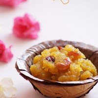 Aval Kesari Recipe - Avalakki Kesari Bath Recipe - Poha Sheera Recipe {Video}