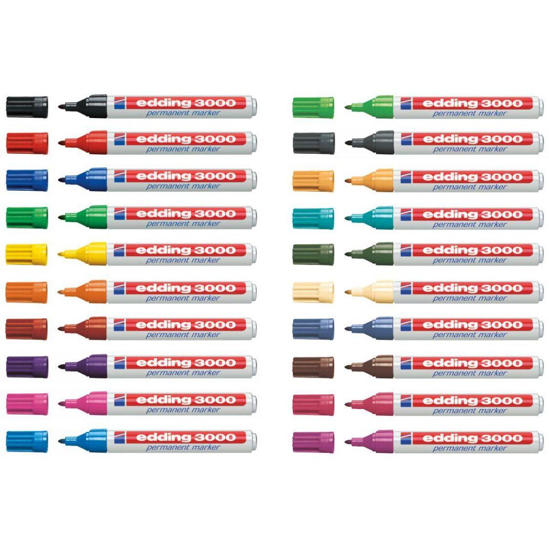 EDDING Permanentmarker 3000 1,5-3mm [20 Farben wählbar]